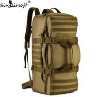 SINAIRSOFT 60L Nylon Tactics Soft back Men Bag Mochila Militar Travel Camouflage Shoulder Messenger Backpack LY0058