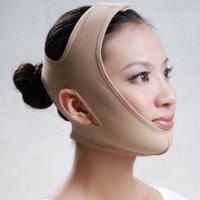 maske maskesi toptan satış-1 ADET ücretsiz Ince yüz maskesi yüz zayıflama maskesi yüz bakımı cilt Yanak zayıflama v-line yüz germe bandaj Yeni ince maske anti-sarkma güzellik yüz maskesi