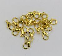 lagosta fecho ouro 12mm venda por atacado-Quente! 10mm 12mm 14mm 16mm 18mm Banhado A Ouro Liga Fechos Da Lagosta (za72)