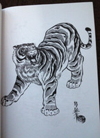 Wholesale Hawking Books - tiger hawk snake Painting Tattoo Books by Horimouja Jack Mosher A4 size Vol.5 tigers hawks snakes Design Sketch Flash Tattoo Book