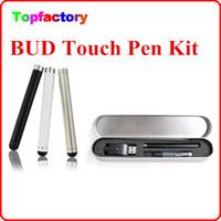 Wholesale E Cig Top Sellers - Hot sale Bud atomizer O Pen Vape touch pen e cigarette vaporizer e cig top seller in USA individual metal box