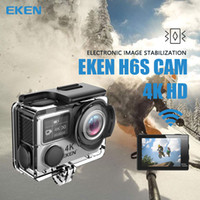 Wholesale Sports Wide Angle Camera - Original EKEN H6S Native 4K Full-Time EIS Ultra HD Action Sports Camera WIFI HDMI Dual screen 170 Wide Angle remote control waterproof 30M