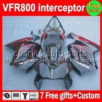 Wholesale Vfr Interceptor - VFR800 For HONDA Interceptor VFR800RR 98 red black 99 00 01 02 03 04 12 90HM11 VFR 800 RR 1998 1999 2000 2001 2002 2003 2004 2012 Fairing