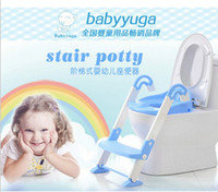 Wholesale Kids Plastic Folding Chairs - Free shipping baby potty toilet children potty urinal training penico ladder to toilet folding pee trainer kids plastic chair