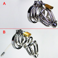 Wholesale Male Chastity Tube Cage - Male Chastity Devices Chastity Cage Cock Cages Chastity Belt Urethral Sounds Penis Plugs Cock Rings Urethral Plug Or Tube BDSM Toys Bondage
