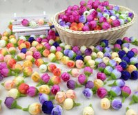 """Wholesale Silk Rose Bud Heads - 500pcs 0.6"""" Rose Buds Artificial Silk Flower Heads For Wedding Home Bridal Bouquet Decoration"""