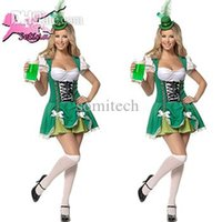 Wholesale Hot Uniforms Maid - Wholesale-women costumes Hot Sale Germany Beer Festival Promotional Clothing maid uniform Charming &Sexy Low Bosom servant cosplay FM008