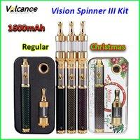 vision spinner starter kits großhandel-Weihnachtsaktion für Vision Spinner III Starter-Kits 1600mAh Kohlefaser Vision Spinner III Kit Vision Spinner 3 Kit Dampf-Zigaretten