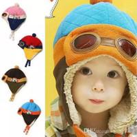Wholesale Cool Beanie Colors - 4 Colors Toddlers Cool Baby Boy Girl Kids Infant Winter Pilot Aviator Warm Cap Hat Beanie Ear Flap Soft Hat c126
