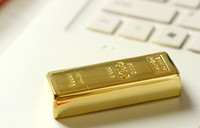 Wholesale Gold Bar Memory Sticks - 55pcs DHL ship Gold bar 64GB 128GB 256GB USB Flash Drive in metal Pen Drive USB Memory Stick Drive