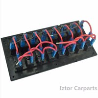 8 Gang 12v / 24v Blue LED Car Marine Boat Interruttori Interruttore a bilanciere Panel Overload Protetto