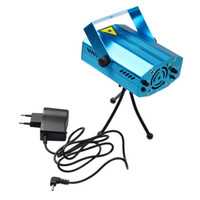 Wholesale Stage Show Equipment - Wholesale-GOESWELL RGB Mini Laser Projector DMX LED Stage Lighting Professional DJ Equipment Strobe Dance Disco Party Show Lights 1pcs
