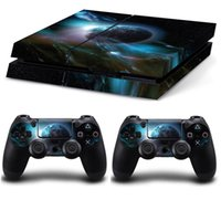 Blue plane Style PS4 Skin Sticker Vinly para Sony PS4 PlayStation 4 y 2 pegatinas de controlador PS4 Stickers