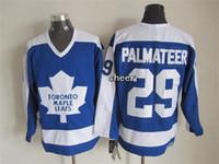 Wholesale Low Price Throwback Jerseys - 2016 Newest Wholesale Men's Toronto Maple Leafs #29 palmateer Blue Throwback Ice Hockey Jerseys,Best Quality,Low Price