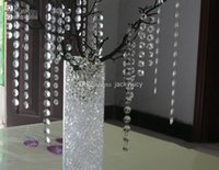 Wholesale wholesale clear acrylic christmas ornaments - Wedding Party Decoration Clear Acrylic Crystal Octagonal Bead Curtain Garland Strands DIY Craft Christmas Tree Hanging Ornament