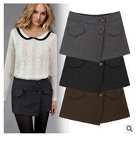 Wholesale Wool Shorts Plus Size - 2015 New Fashion Spring Women Woolen Shorts Skirts Wool Shorts Skirts Straight Boot Cut Jeans Short Pants Casual Skirt Plus Size