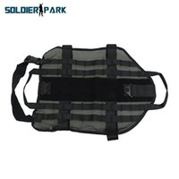Tactical High Visibility Netz Haustier Hund Weste Small Medium Large XLarge Hunting Durable Airsoft Kampf-Militärhundekleidung Schwarz Auftrag $ 18NO