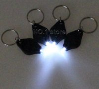 Wholesale Led Crank Light - 10pcs Led Light Mini Keychain White Light 22000Mcd Flashlight With Keychain Electric Torch flashlight holder flashlight crank