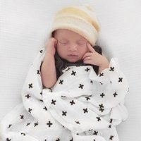 Wholesale plain colour bedding for sale - Group buy Children Blankets Newborn Baby Nursery Bedding Kids Swadding Soft Organic Cotton Muslin Tree Cross Swaddle Bath Towel Multi use Infant wrap