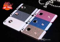 iphone 4s altın kılıf toptan satış-Elmas Glitter Plastik PC Sert Altın Bling durumda Çift Renk kapak iphone 6 için artı 6G 5.5 '' 4.7 '' 4 4G 4 S 5 5G 5 S Halka Yuvarlak Delik cilt kapak