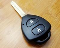 reemplazo de la carcasa de toyota remote shell al por mayor-Toyota Corolla Remote Key Shell 2 botones TOY43 Blade, FOB Replacement Key Cover funda en blanco para RVA4 Corolla Hilux 2 BTN