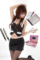 Wholesale Sexy Photos Games - SEXY Naughty School Girl Fancy Dress Costume Outfit Secretary Temperament Secretary COSPLAY Game Uniform Photo Photography X126