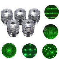 Wholesale Head Light Converters - 5 pcs New Arrival 5 Style Pattern Bright Converter Light Refraction Green Laser Pointer Pen Beam head Small size Easy Carry