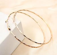 Wholesale Large Loop Earrings - Wholesale-Free Shipping Rose Gold Big Hoop Earring For Women Statement Fashion Jewelry Earrings Large Circle Round Loop Hoop Earrings