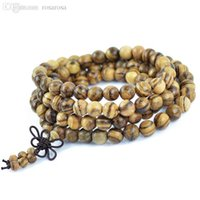 Wholesale Vietnamese Bead Bracelets - Wholesale-Authentic Vietnamese agarwood incense 108 beads 6mm 8mm fashion prayer beads bracelets men jewelry wood wristband 0300