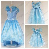 Wholesale Butterfly Tutu Dress Long Sleeve - 2015 cinderella dress girls cinderella princess cinderella blue dress butterfly lace dress girls long formal dresses party dress
