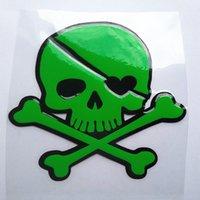tampas de plástico venda por atacado-Venda inteira de combustível tampa do tanque impermeável crânio etiqueta do carro
