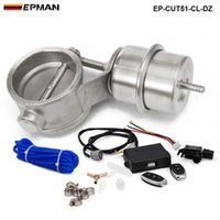 "Wholesale Remote Control Exhaust - EPMAN - Exhaust Control Valve Set Cutout 2"" 51mm Pipe Close Style With Vacuum Actuator with Wireless Remote Controller Set EP-CUT51-CL-DZ"