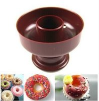 Wholesale Round Plunger - Round Plastic Mould Manual Hollow Out Design Baking Mold Donut Plunger Biscuits Cake Moulds Kitchen Tool 1 2tt B