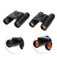 Wholesale Wholesale Binoculars - Mini Binoculars 30X60 Blue Red Film Coating Zoom High Definition Night Vision Optical Len Binocular Telescope Free Shipping