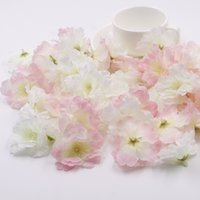 100 Pcs Lote 5.6cm Pink Artificial Silk Cherry Blossom Wedding Bouquets de flores Scrapbooking Diy Garland Hair Accessories