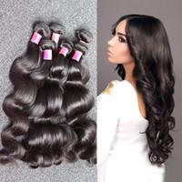 dalgalı saç uzatma atkıları toptan satış-Bella Hair®8A Ucuz Brezilyalı Saç İşlenmemiş İnsan Saç Uzatma Boyanabilir Vücut Dalga Dalgalı İnsan Saç Atkı 8 ~ 30 inç 5 Demetleri Ücretsiz Kargo