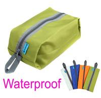Wholesale Canvas Shoe Bags Wholesale - 4 Colors Waterproof Portable Travel Tote Toiletries Laundry Shoe Pouch Storage Bag