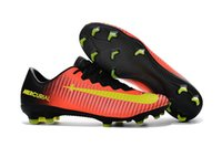 Wholesale Soccer Cleats Cr - Mercurial Victory XI FG Football boots Chinese Red CR 7 Soccer cleats low tops CR7 size 39-45