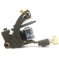 Wholesale Case For Tattoo Machine - High Quality Black Tattoo Machine Gun own A spider web fine iron 12 wrap coils For Shader MIC07 With a Free Case Supplies