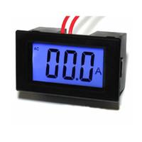 ampèremètre ampèremètre achat en gros de-AC 220 V AC 0-100A Ampèremètre Numérique Ampère Ampère Panneau Compteur Avec Indicateur LCD Livraison Gratuite