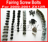 Wholesale Professional Motorcycle Fairing screws bolt kit for KAWASAKI ninja ZX12R ZX R black aftermarket fairings bolts screw parts