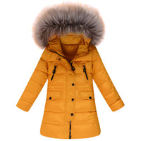 Wholesale Clearance Long Down Coat - Wholesale-Season clearance children's winter clothing girls thick Down jacket in long with waterproof and windproof function