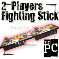 Commercio all'ingrosso 2-Players Fighting Stick del gioco della galleria della barra di comando PC 6 Key Pro Street Fighter REGALO ROSSO STICK (56 millimetri) S-A6A