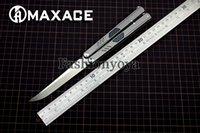 Wholesale Ceramic Combat Knives - freeshipping HKEMS MAXACE KNIVES Covenant 3 GAUSS Balisong Butterfly Knives KVT Ceramic ball bearing M390 BladeTC4+CF Handle