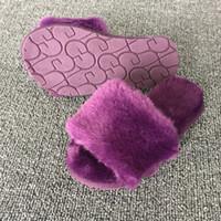 ingrosso pantofole di dimensioni del bambino-Pantofole madre bambino pelliccia casa ragazzi ragazze caldo confortevole soffici scarpe antiscivolo coperta bambino pantofola usura per bambini soft sole taglia 22-40