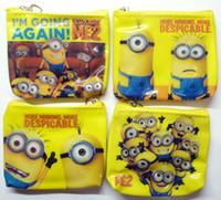 Wholesale Childrens Party Bags Wholesale - Job lot 24 PCS Despicable Me MINION Zip Coin Purse childrens 4 designs party bags NEW