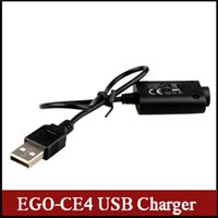 Wholesale Ego E Cigarette Accessories - 2015 new EGO-CE4 USB cable charger E-cigarette Accessories high quality in store fit many batteries via dhl free 0205012