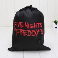 ingrosso fnaf freddy-29 cm * 23,5 cm FNAF cinque notti presso la borsa per il trasporto di borse in tessuto non tessuto cinque notti al sacco di stoccaggio Freddy