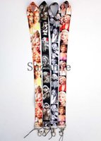 Wholesale Marilyn Monroe Key Lanyards - Free shipping, New 100 pcs Marilyn Monroe Neck Lanyard key chain Mobile cell phone neck straps charms