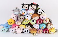 Limpiador de pantalla de calidad superior Peluches TSUM TSUMS Mickey Minnie Winnie Kawaii Dolls animado móvil Llavero bolso de la suspensión para el teléfono móvil Ipad
